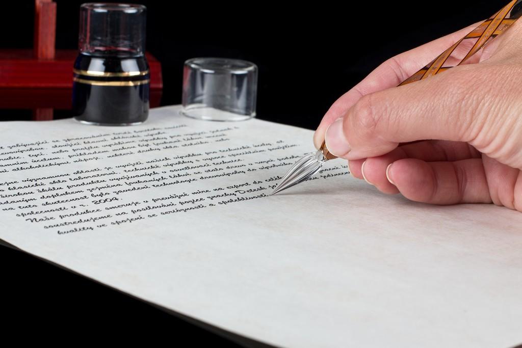 Glass writing pen detesk